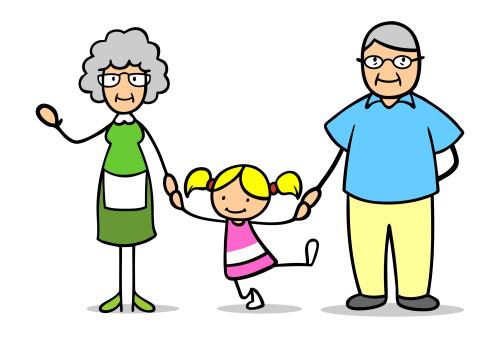 El régimen de visitas de abuelos a nietos.